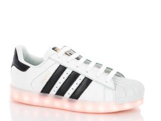B adidas super star led white, 8 (36-40), <strong>15</strong>, лето