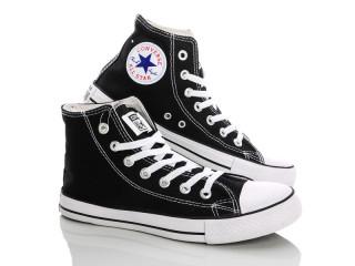 Converse черно-белый высокие, 6 (41-45), <strong>15</strong>, демисезон