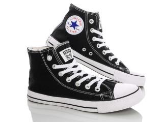 Converse черно-белый высокий 36-40, 6 (36-40), <strong>15</strong>, демисезон